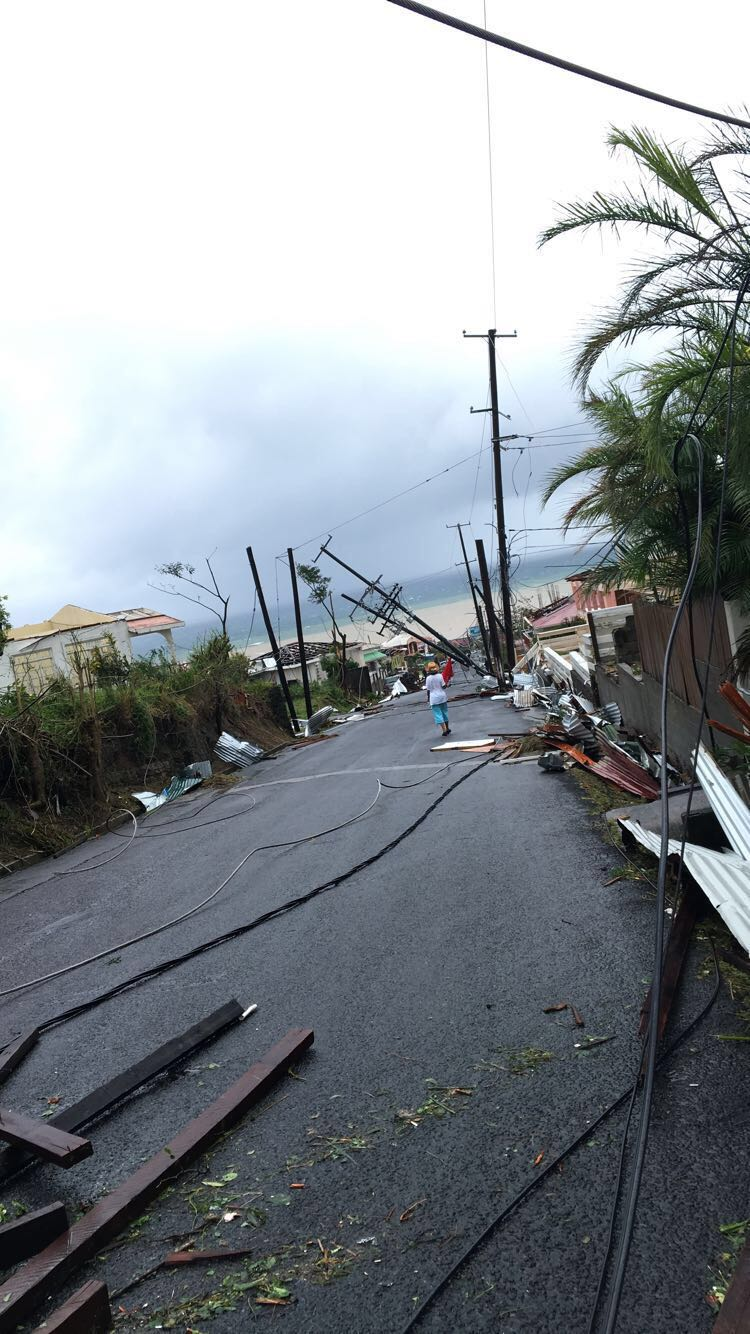 Federation drive the day after Maria