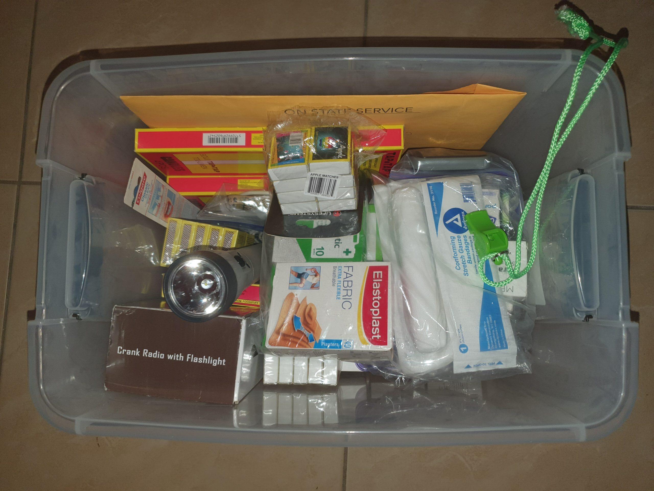 My hurricane container.