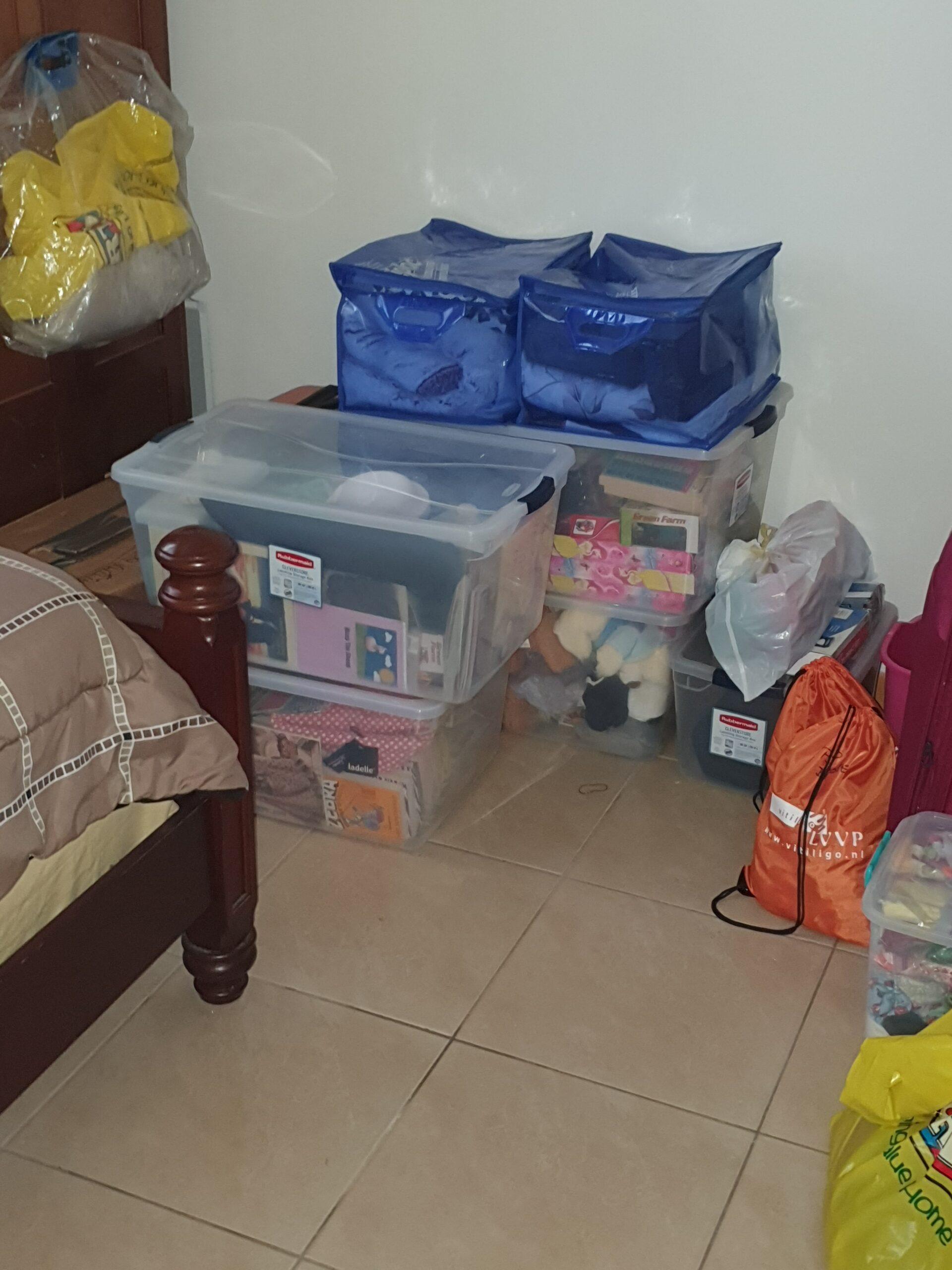 Donations stored hurricane proof.